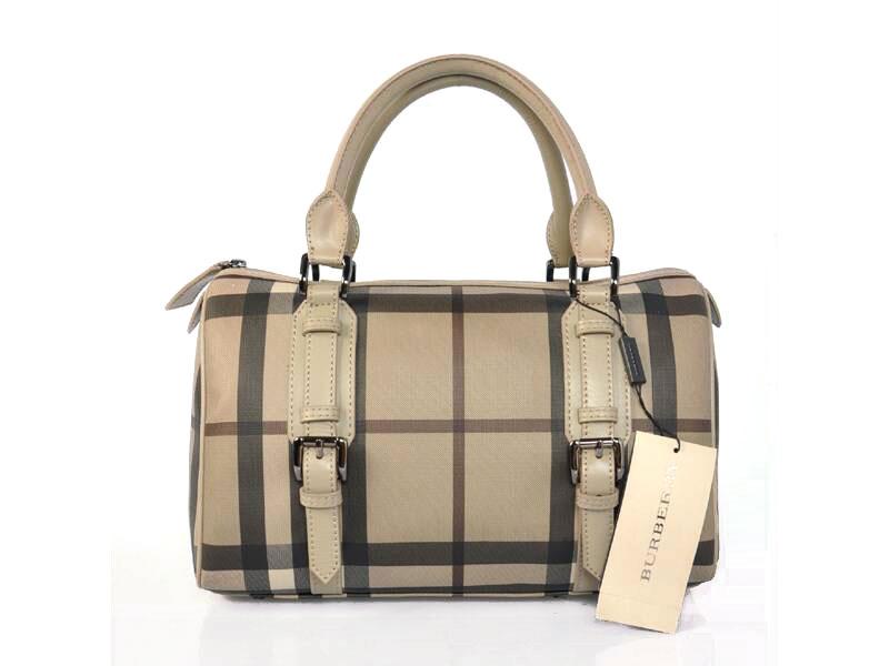 ea663ffdb Burberry Medio Check Leather Belted Bowling bolsa 38011801  http://www.bolsas-