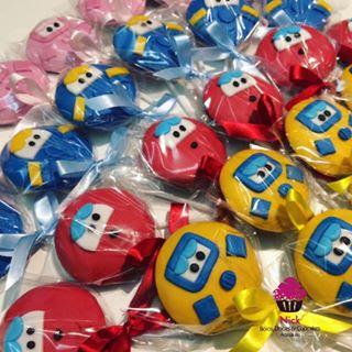 pirulito de chocolate Doces para Festa Super Wings