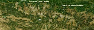 Pirineos desde satélite