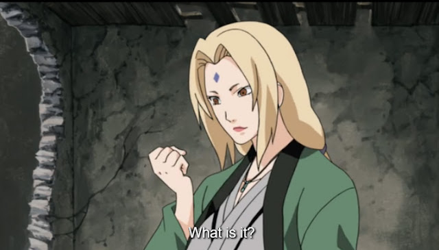 Tsunade crushes a bug in Naruto Shippuden