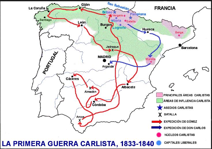 Primera Guerra Carlista Mapa.Comentarios Para Torpes Documento Historico 11 1