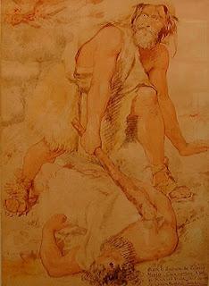 Richard Dadd : Murder   Caïen terrassant Abel