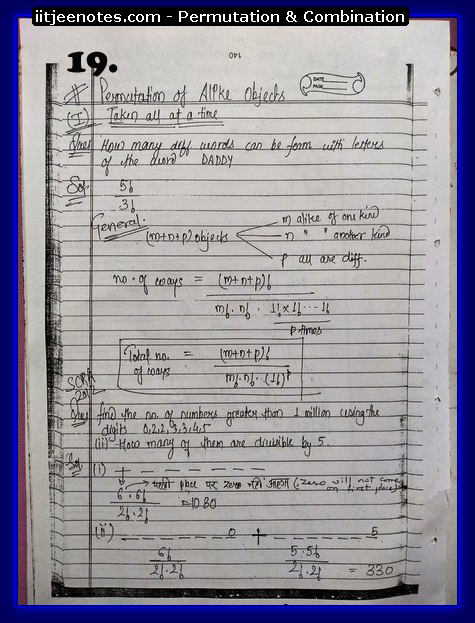 Permutation and Combination notes8