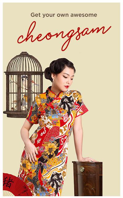 baju cheongsam 2019, baju imlek 2019