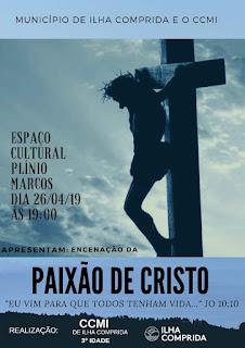 """CCMI e município convidam o público para encenação da """"Paixão de Cristo"""" na sexta 26/04"""