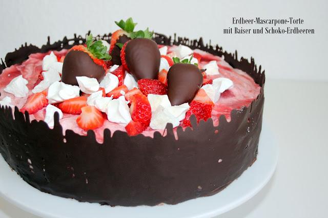 Rezept Erdbeer Mascarpone Torte Das Susse Leben