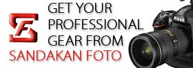 My photographic equipments and website supported by Sandakan Foto