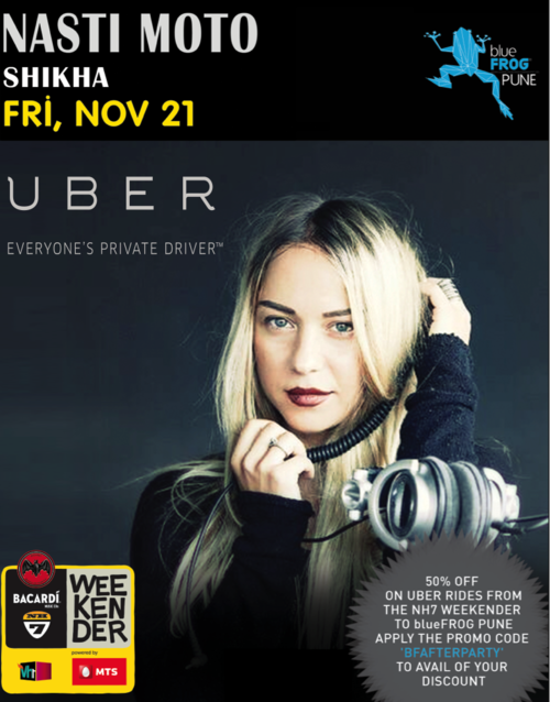 [PromoCode] You are on after party guest list with Uber Pune TONIGHT Nov 21, 2015