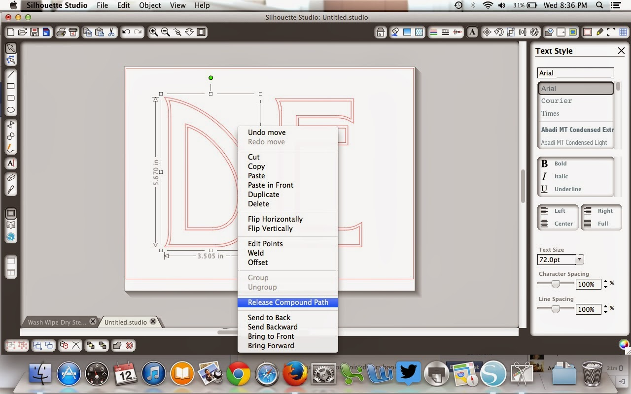 Fonts, Silhouette, friendly, Silhouette tutorial, Desdemona, release compound path
