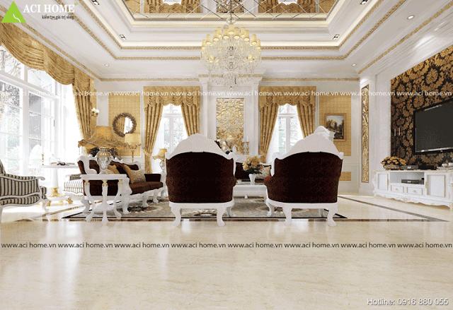 Mẫu thiết phòng khách cổ điển