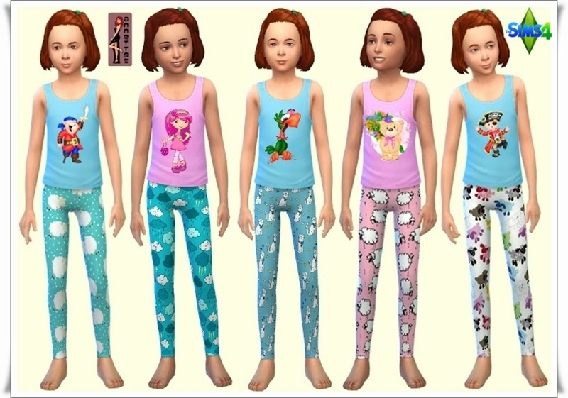 Annett's Sims 4 Welt: Sleepwear for Kids