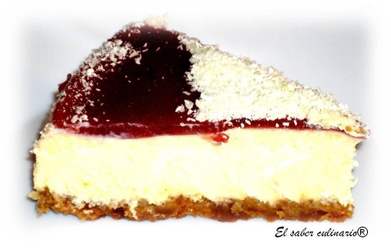 Tarta de queso clsica con chocolate blanco y creme