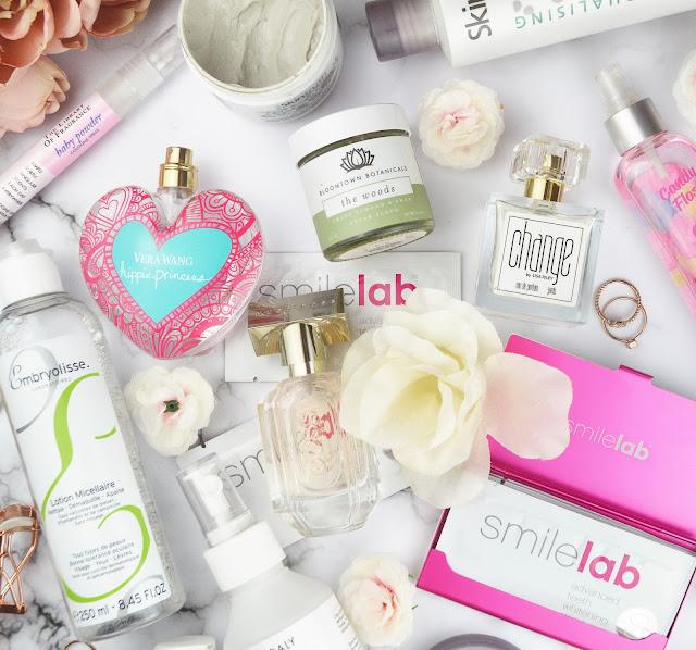 My Fave Skincare & Fragrance Discoveries of 2017 Flatlay, Lovelaughslipstick Blog