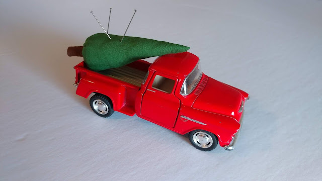 Toy truck pin cushion