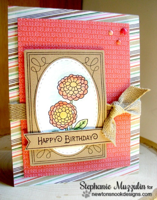 Birthday Flower Seed Packet Card by Stephanie Muzzulin | Garden Starter Stamp Set & Garden Window Die | Newton's Nook Designs #newtonsnook