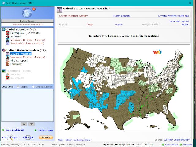 تحميل برنامج معرفة أحوال الطقس والكوارث الطبيغية عبر العالم Earth Alerts مجانا