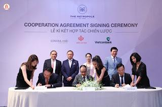sự kiện lễ kí kết hợp tác giữa Quốc Lộc Phát SonKim Land Vietcombank