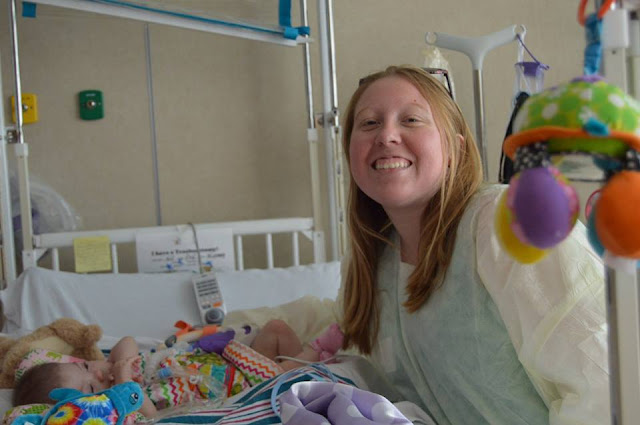 "Gracie's Gowns founder Jessica Kidd visits one of ""her kids"" in the hospital"