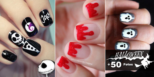 Checkout Simple And Easy 15+ Nails Designs For Halloween 2016