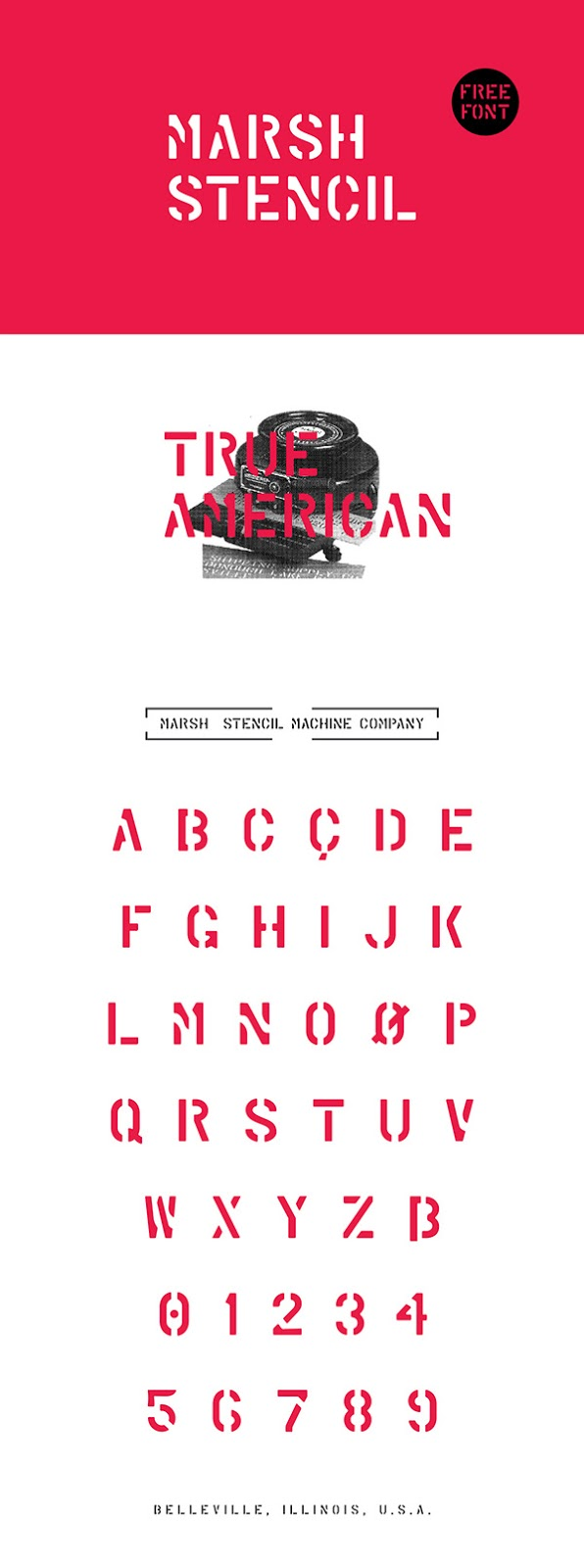 Download Gratis Font Terbaru September 2015 - Marsh Stencil - Free Font