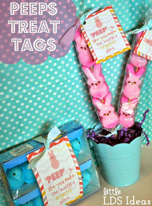 Printables peeps treat tag little lds ideas save negle Choice Image