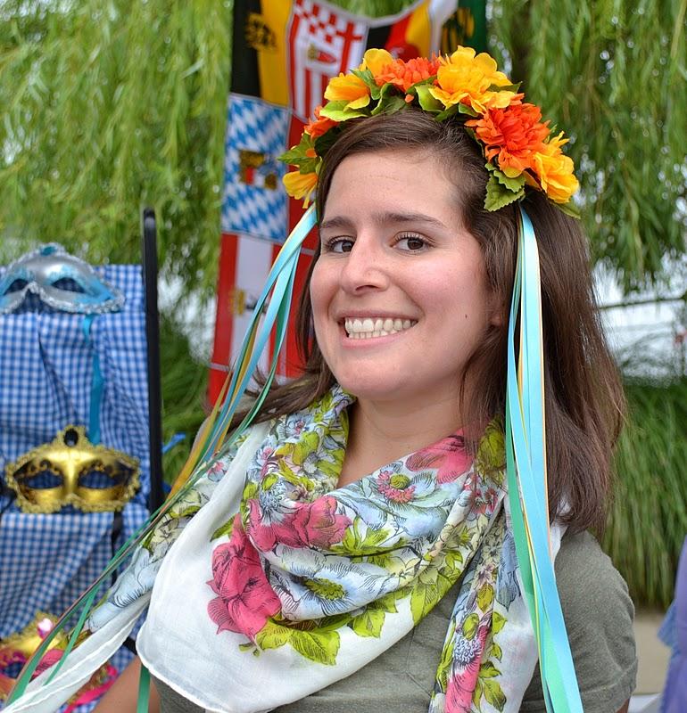 Allison sporting an Oktoberfest flower crown 9949dcdb212