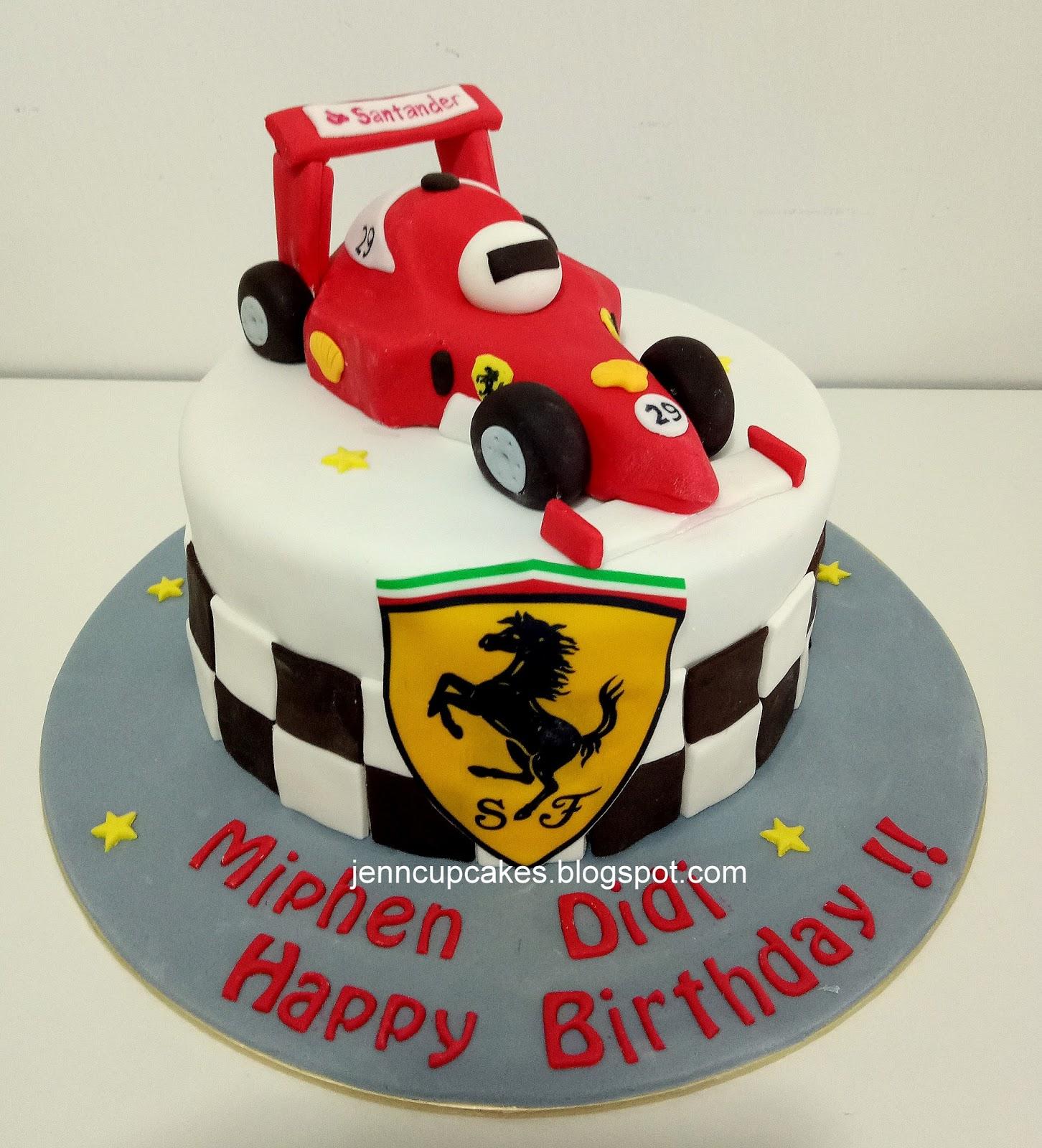 Jenn Cupcakes Muffins Ferrari F1 Cake