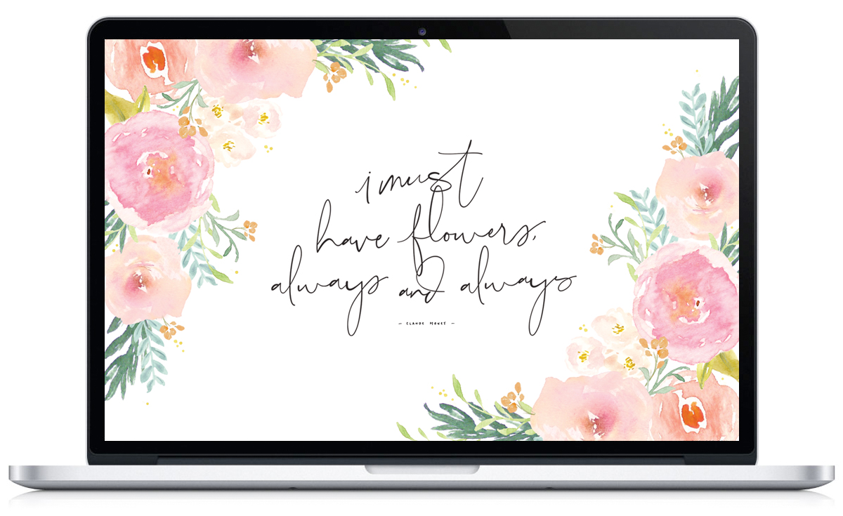I Must Have Flowers - Free Floral Mobile/Desktop Wallpaper via Union Shore Blog