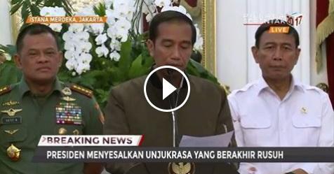 VIDEO: Ini Isi Pidato Presiden Jokowi Usai Aksi Bela Islam II 4 November 2016