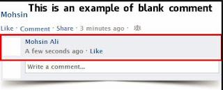Post an Empty/ Blank Status