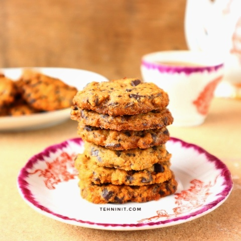 Cokelat chips cookies renyah crispy full margarin