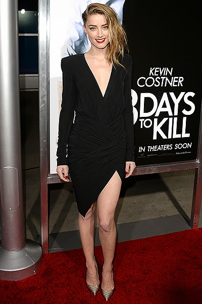 Amber Heard at the premiere of '3 Days to Kill'