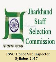 JSSC Police Sub Inspector Syllabus