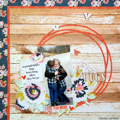 Hugs Layout for Creative Scrapbooker Magazine