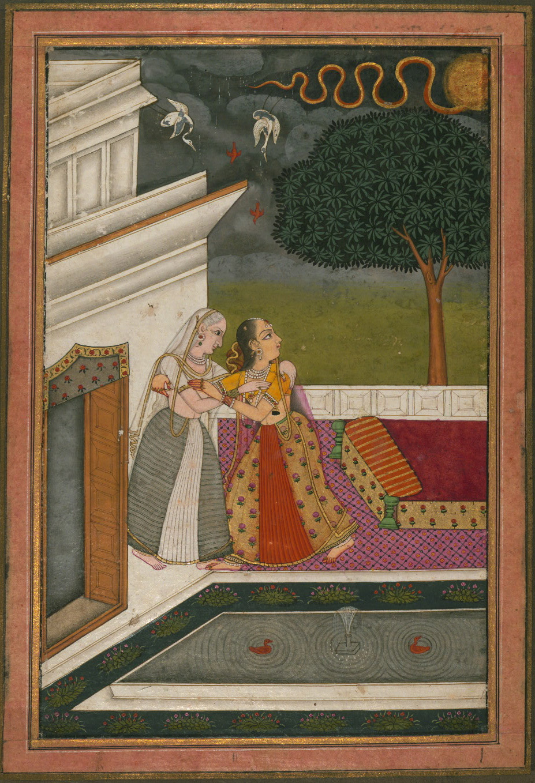 Madhumadhavi Ragini  - Miniature Painting, Deccan School, Ragamala series, 19th Century