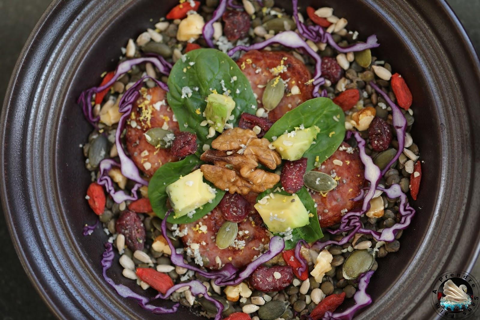 Salade super-aliments à la saucisse de Morteau