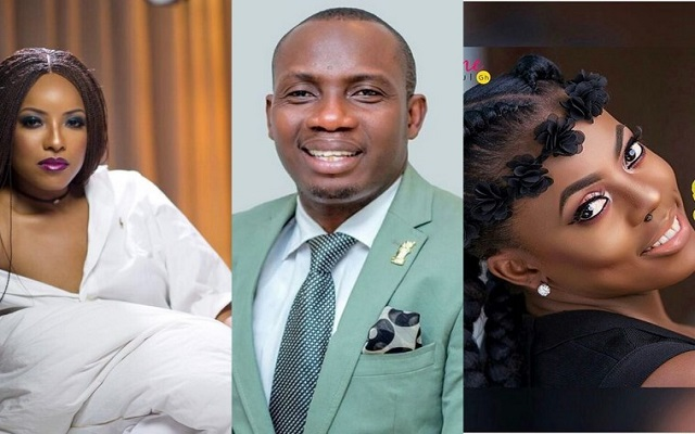 Nana Aba Anamoah, Joselyn Dumas and Counselor Rev. George Lutterodt.