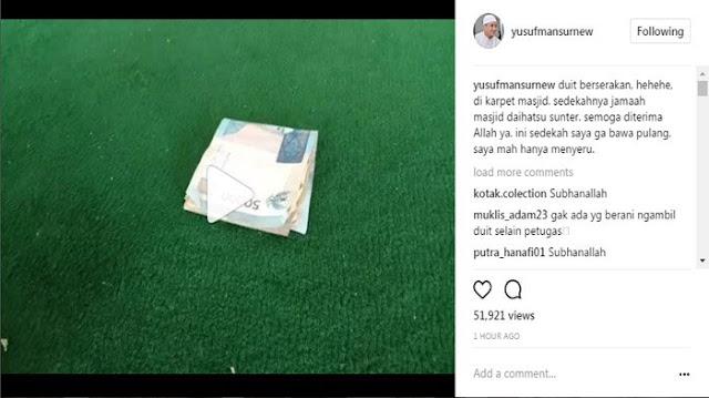 Heboh Uang Ratusan Ribu Berserakan Di Masjid, Tak Disangka Ternyata Begini Kata Pak Ustadz