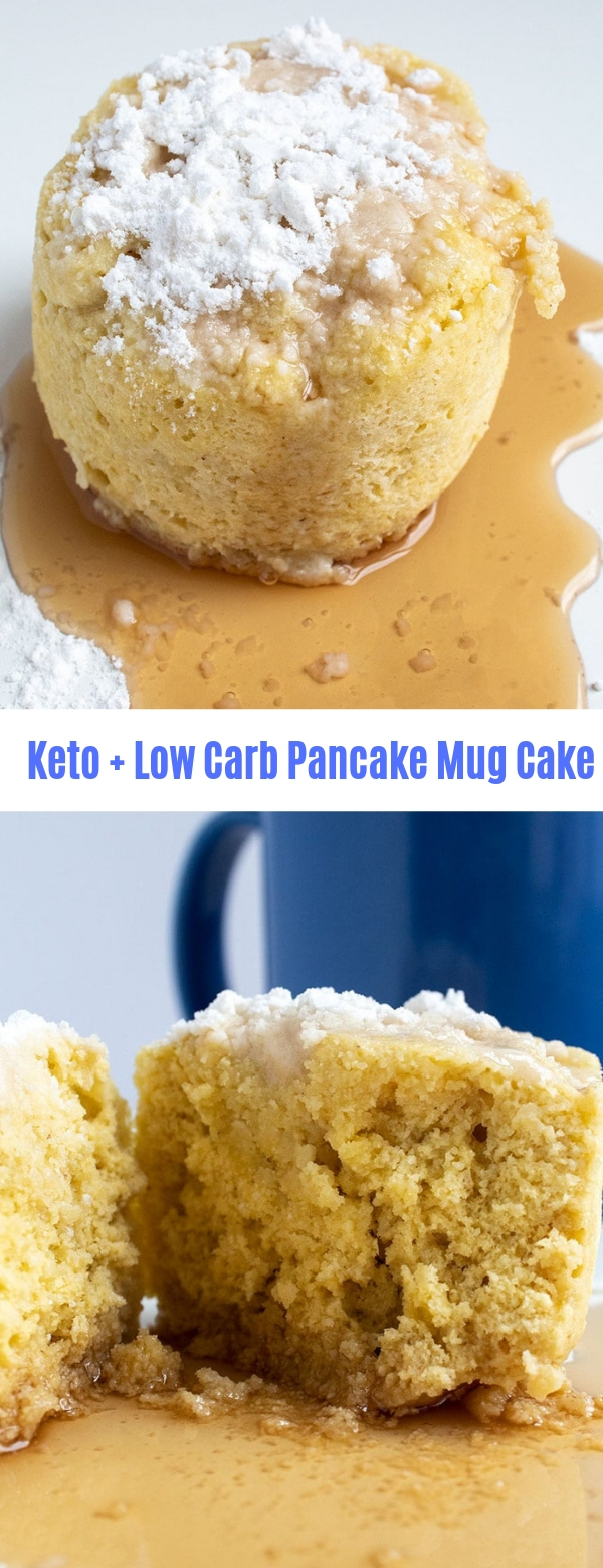 Keto + Low Carb Pancake Mug Cake