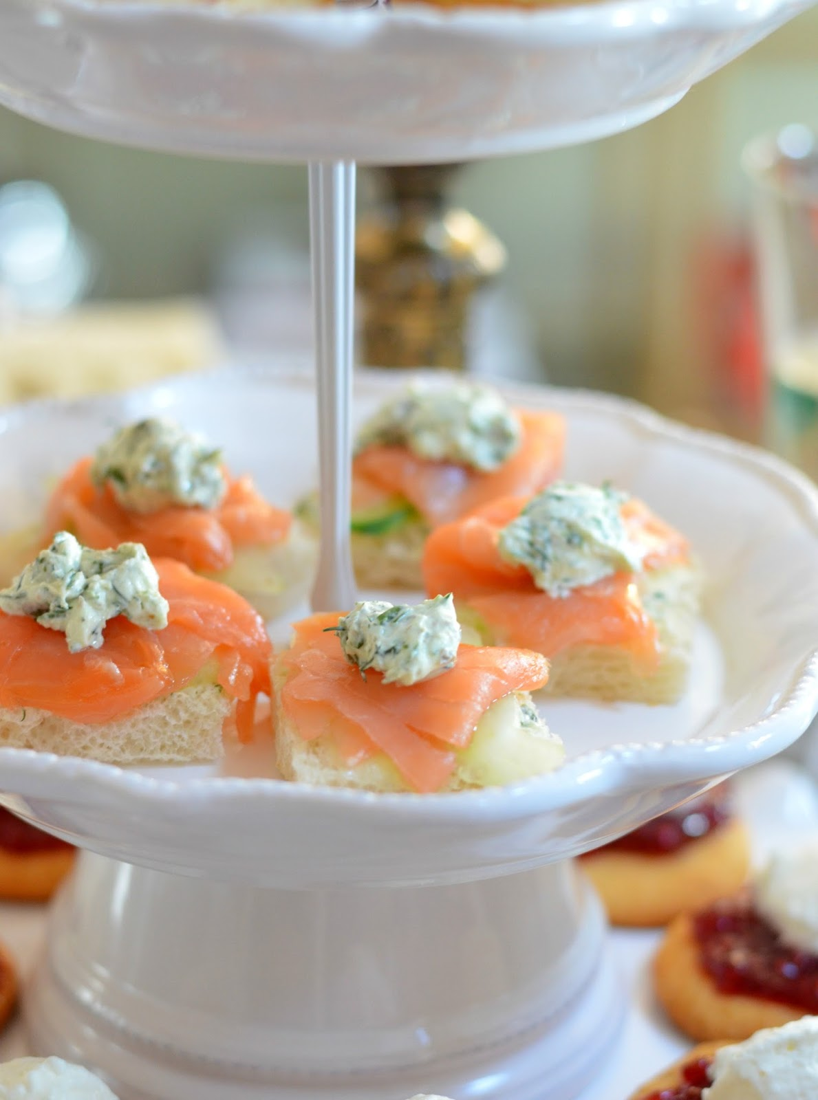 Afternoon Tea Salmon and Herb Cream Cheese Tea Sandwiches