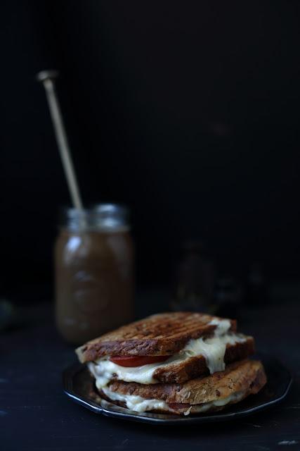 Still life photography, toast, coffee