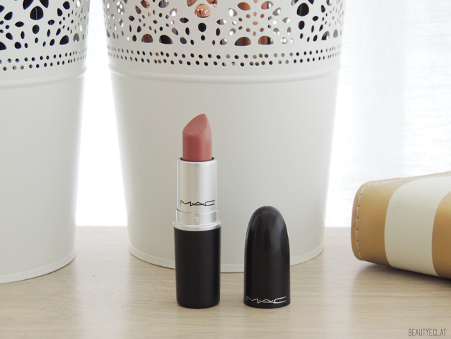 collection rouges a levres mac swatchs swatch modesty