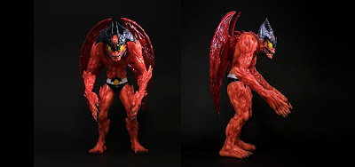 Devilman Glow in the Dark Red Edition Vinyl Figure by Mike Sutfin x Unbox Industries