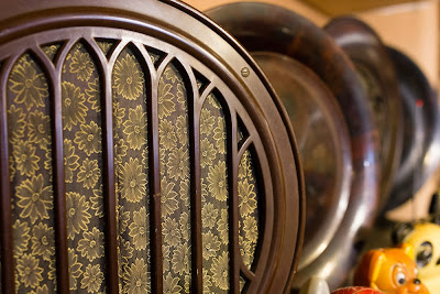 Art deco radios at the Bakelite museum