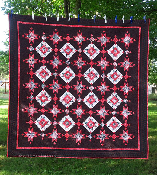 Blooming in the Dark Quilt Free Pattern