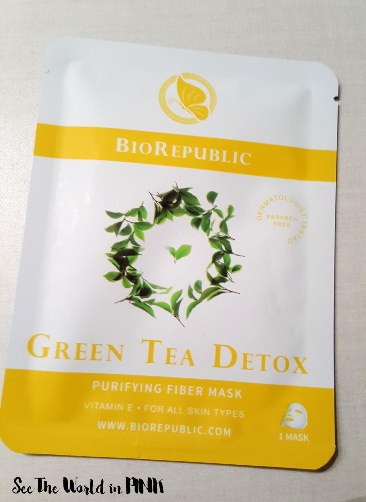 Bio Republic Skincare Green Tea Detox Purifying Fiber Mask Set
