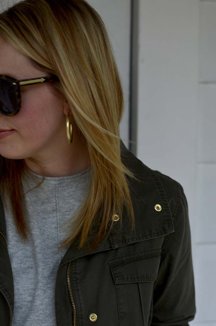 Gold Statement Hoop Earrings A Blonde's Moment