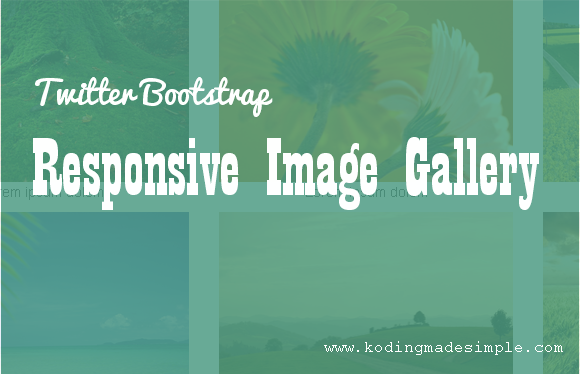 Twitter Bootstrap Responsive Image Gallery Tutorial With