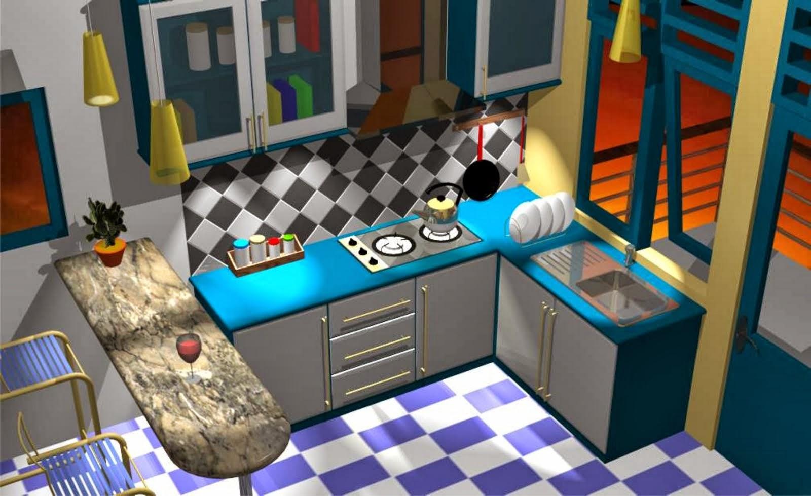 Gambar Kartun Di Dapur Desainrumahid