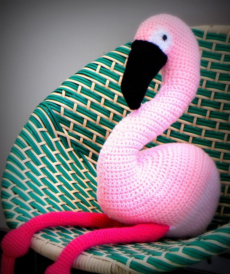 Have you met Enid my crochet flamingo? ? Lazy Daisy Jones